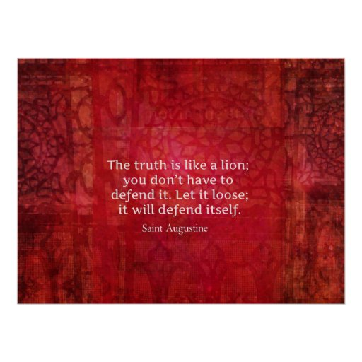 St. augustine inspirational quote on TRUTH Poster