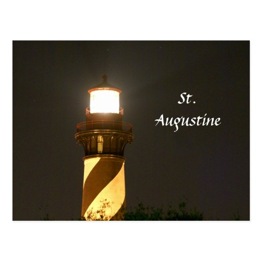 St Augustine Lighthouse at Night Postcard