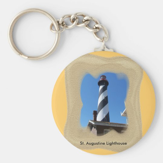 St. Augustine Lighthouse Basic Round Button Key Ring