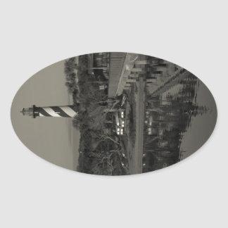 St. Augustine Lighthouse Early Morning Oval Sticker