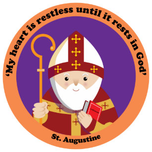 St. Augustine of Hippo Postcard