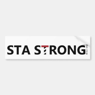 St. Augustine - STA STRONG Bumper Sticker