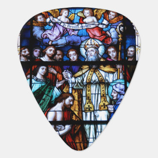 St. Augustine Stained Glass Guitar Pick