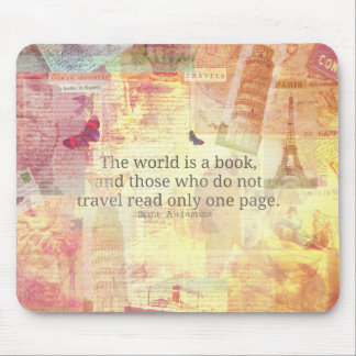 St. Augustine  World is a Book travel quote Mouse Mat