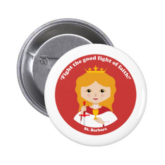 St. Barbara 6 Cm Round Badge