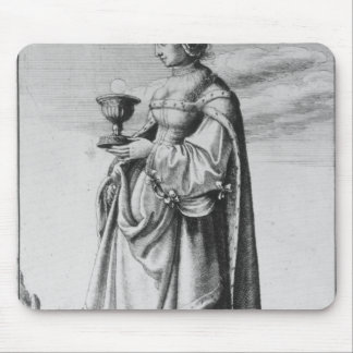 St Barbara etched by Wenceslaus Hollar 1647 Mousepads