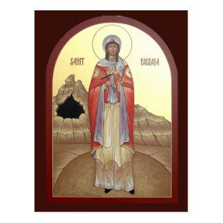 St. Barbara Prayer Card Postcard