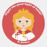 St. Barbara Round Stickers