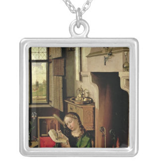 St. Barbara Silver Plated Necklace