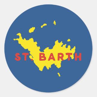 St. Barth Silhouette Classic Round Sticker