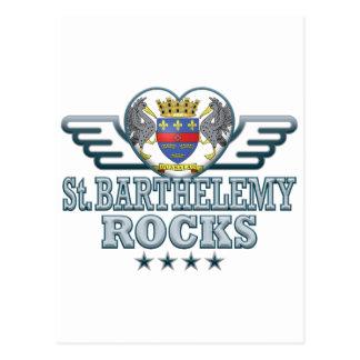 St Barthelemy Rocks v2 Postcards