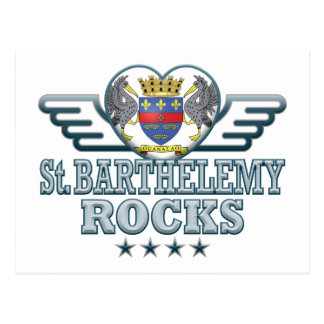 St. Barthelemy Rocks v2 Post Card