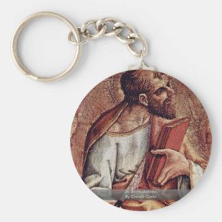 St. Bartholomew, By Crivelli Carlo Basic Round Button Key Ring