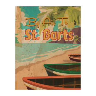 St. Barts Vintage Travel Poster Wood Canvases