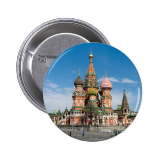 St.Basil Cathedral in Moscow 6 Cm Round Badge