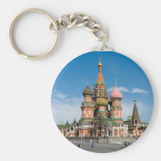 St.Basil Cathedral in Moscow Basic Round Button Key Ring