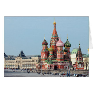 St. Basil Russian cathedral on the Red Square. Mos Cards