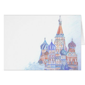 St. Basil's Cathedral Blank Card (horizontal)