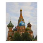 St. Basil's Cathedral in Red Square, Moscow Poster