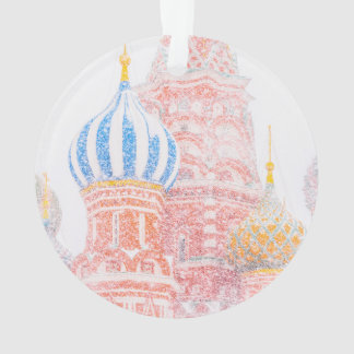 St Basil's Cathedral In Snowstorm Ornament