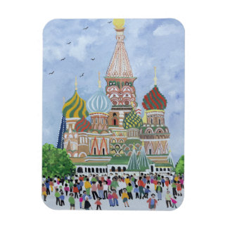 St. Basil's Cathedral Red Square 1995 Rectangular Photo Magnet