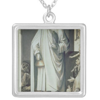 St. Bavo, Exterior of the Right Wing Silver Plated Necklace