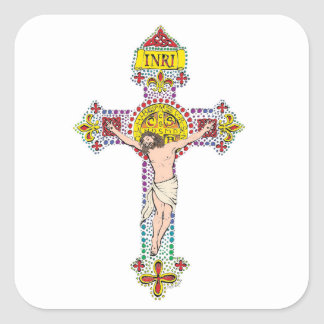 St.Benedict Crucifix Square Sticker