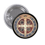 St. Benedict Medal Buttons, All Sizes & Shapes 3 Cm Round Badge