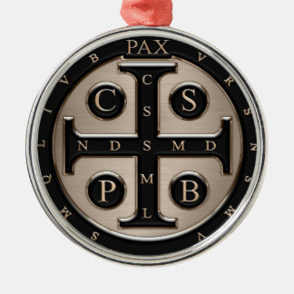 St. Benedict Medal Christmas Ornament