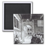 St. Benedict Preaching in the Monastery Refrigerator Magnet