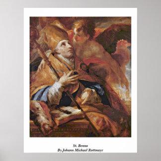 St. Benno By Johann Michael Rottmayr Print