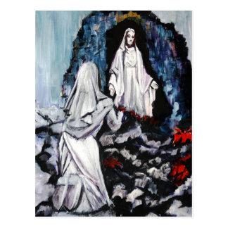 St Bernadette at the Grotto Postcard