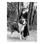 St Bernard & Boston Terrier, 1925 Postcard