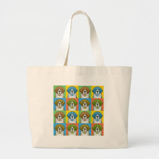 St. Bernard Cartoon Pop-Art Jumbo Tote Bag