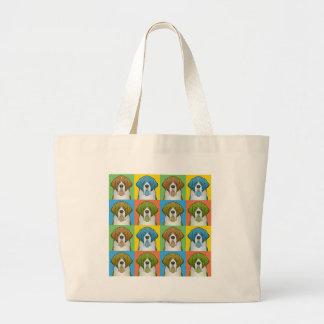 St. Bernard Cartoon Pop-Art Jumbo Tote Bag