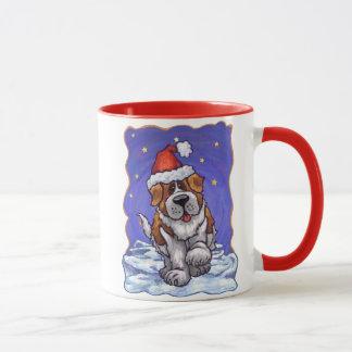 St. Bernard Christmas Mug