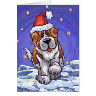 St. Bernard Christmas Note Card
