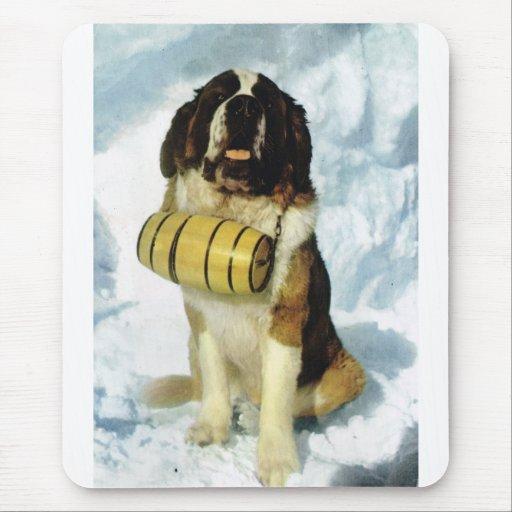 St Bernard dog, Mountain Rescue Mousepads