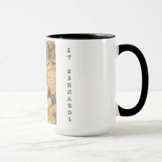 St Bernard dog mug