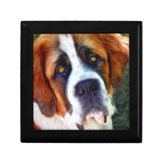 St Bernard Dog Painting Gift Box