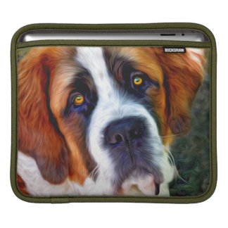 St Bernard Dog Painting iPad Sleeve