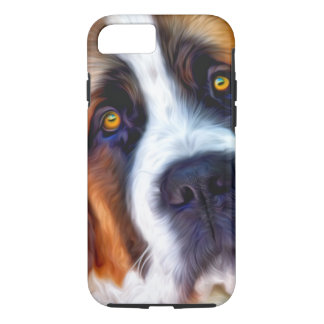 St Bernard Dog Painting iPhone 7 Case