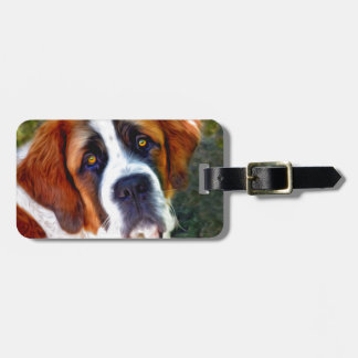 St Bernard Dog Painting Tag For Bags