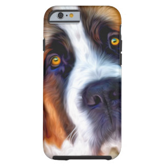 St Bernard Dog Painting Tough iPhone 6 Case