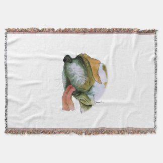 St. Bernard dog, tony fernandes Throw Blanket