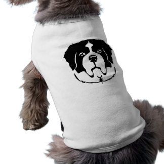 St. Bernard face Sleeveless Dog Shirt