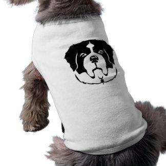 St. Bernard face Sleeveless Dog Shirt