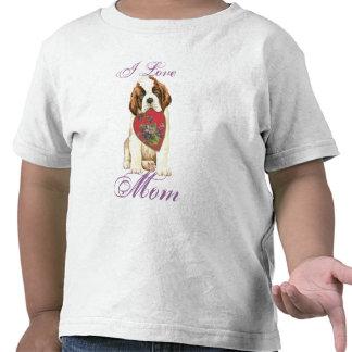 St. Bernard Heart Mom T Shirts