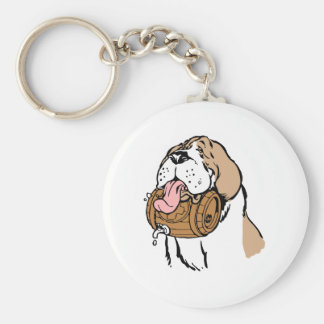 St. Bernard Keg Dog Key Ring