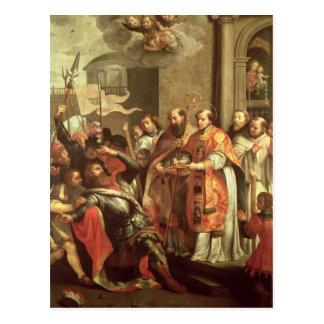 St. Bernard of Clairvaux  and William X  Duke Postcard
